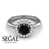 Halo's Vintage Black Diamond Ring- Clara no. 6