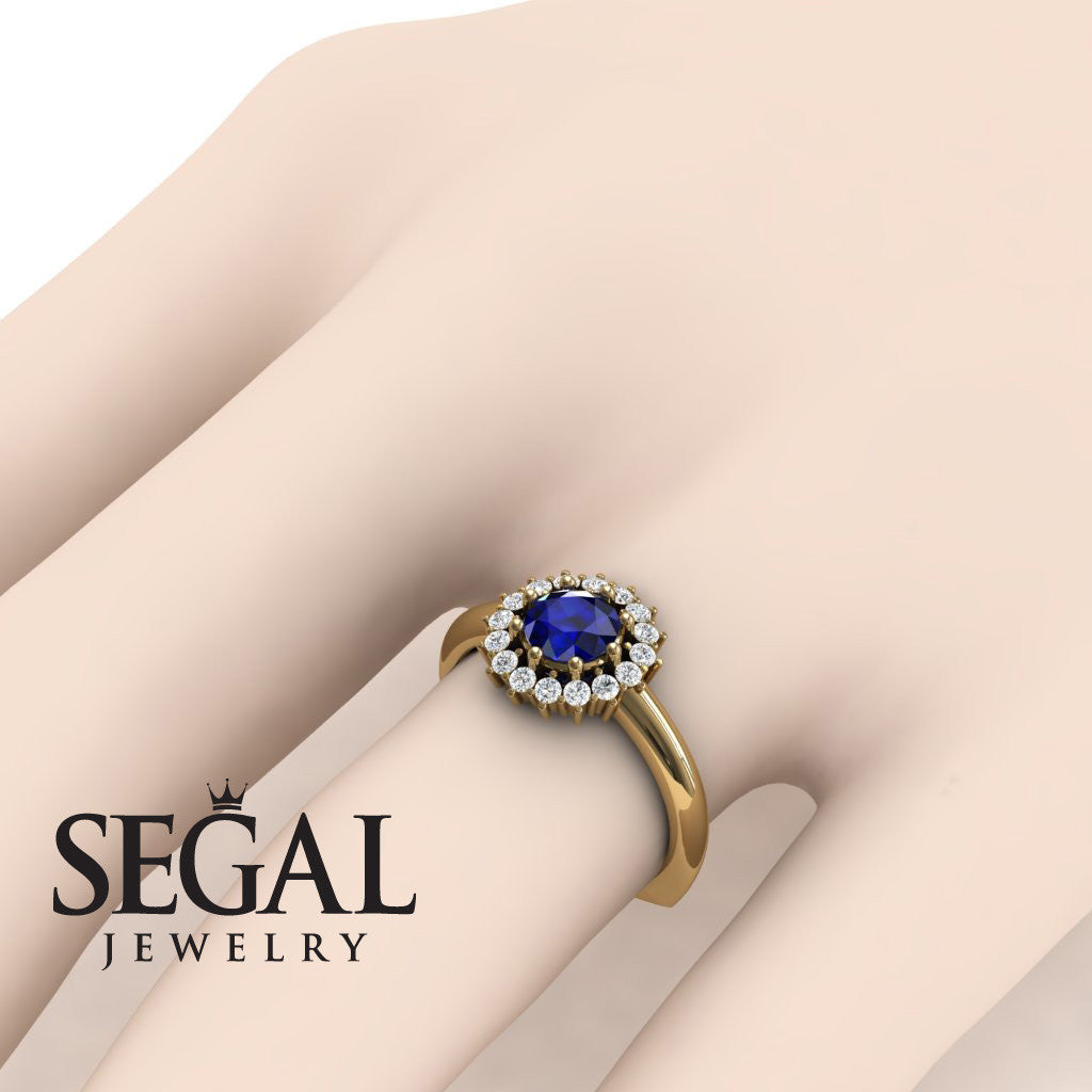 Halo's Vintage Blue Sapphire Ring- Clara no. 10