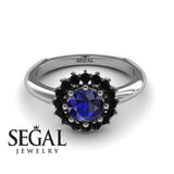 Halo's Vintage Blue Sapphire Ring- Clara no. 15
