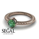 The Slim Edwardian Green Emerald Ring- Alexandra no. 11