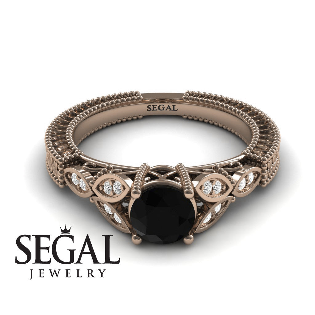 The Leaf Legend Black Diamond Ring- Adeline no. 5