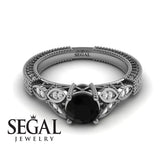 The Leaf Legend Black Diamond Ring- Adeline no. 6