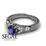 The Leaf Legend Blue Sapphire Ring- Adeline no. 9