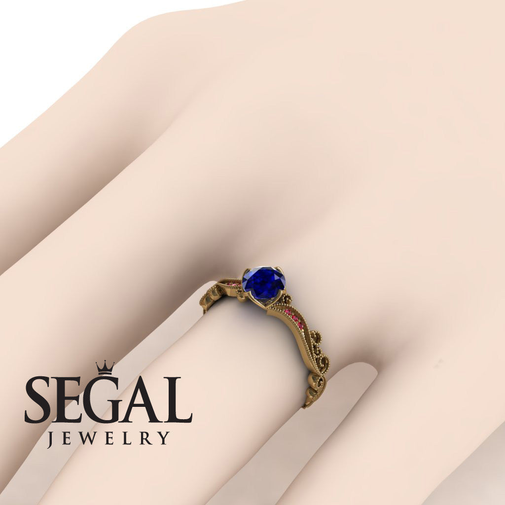 Painter's Muse Blue Sapphire Ring- Sophie no. 4