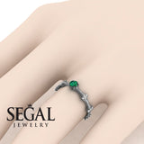 Fancy Bamboo Green Emerald Ring- Grace no. 12
