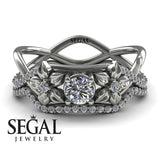 The Swift Flowers Bridal Set Diamond Ring- Charlie no. 3