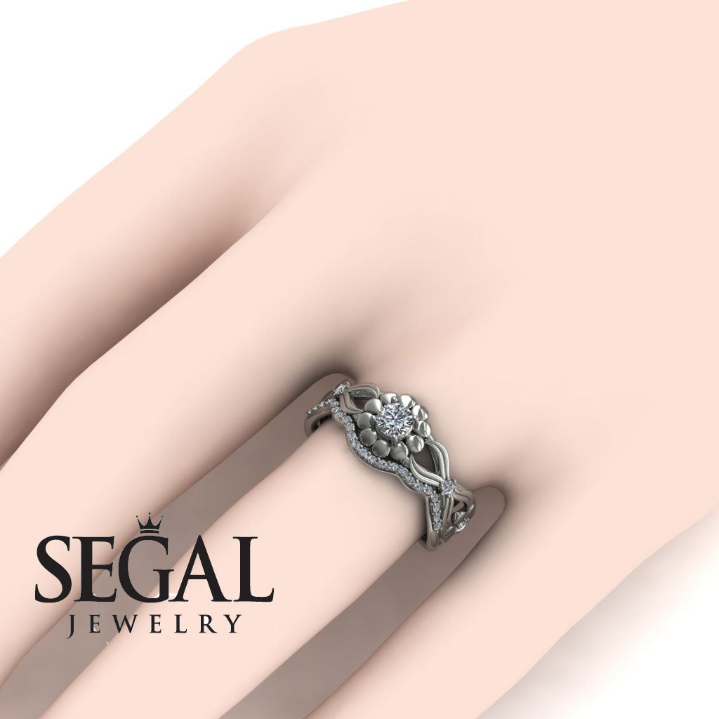 East And West flowers Bridal Set Diamond Ring- Mila no. 3 – Segal ...