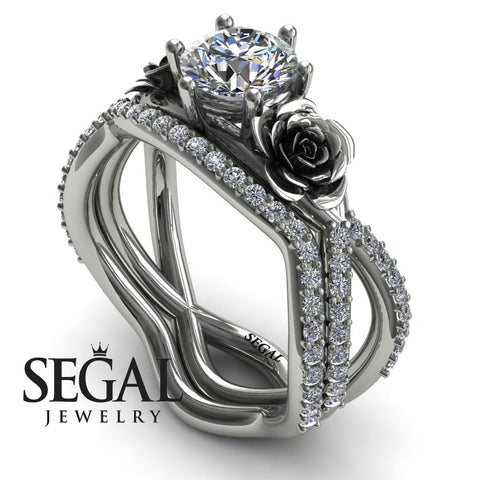 The Rose Power Bridal Set Diamond Ring- Abigail no. 3
