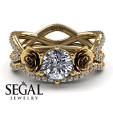 The Rose Power Bridal Set Diamond Ring- Abigail no. 1