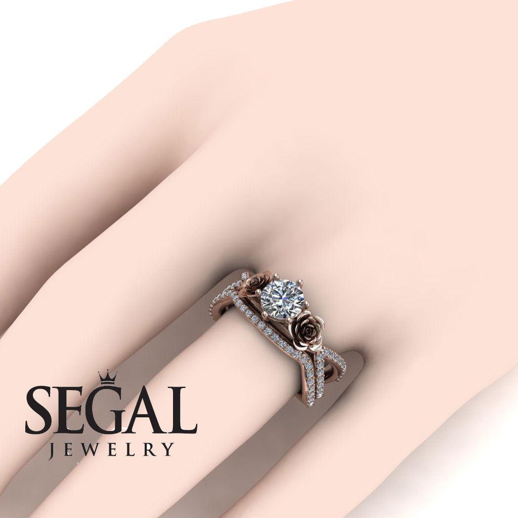 The Rose Power Bridal Set Diamond Ring- Abigail no. 2
