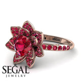 Lotus Ruby Engagement Ring - Princess Lotus no. 8