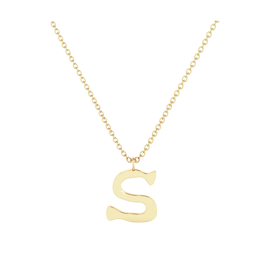 S - Letter Name Necklace Initial Necklace