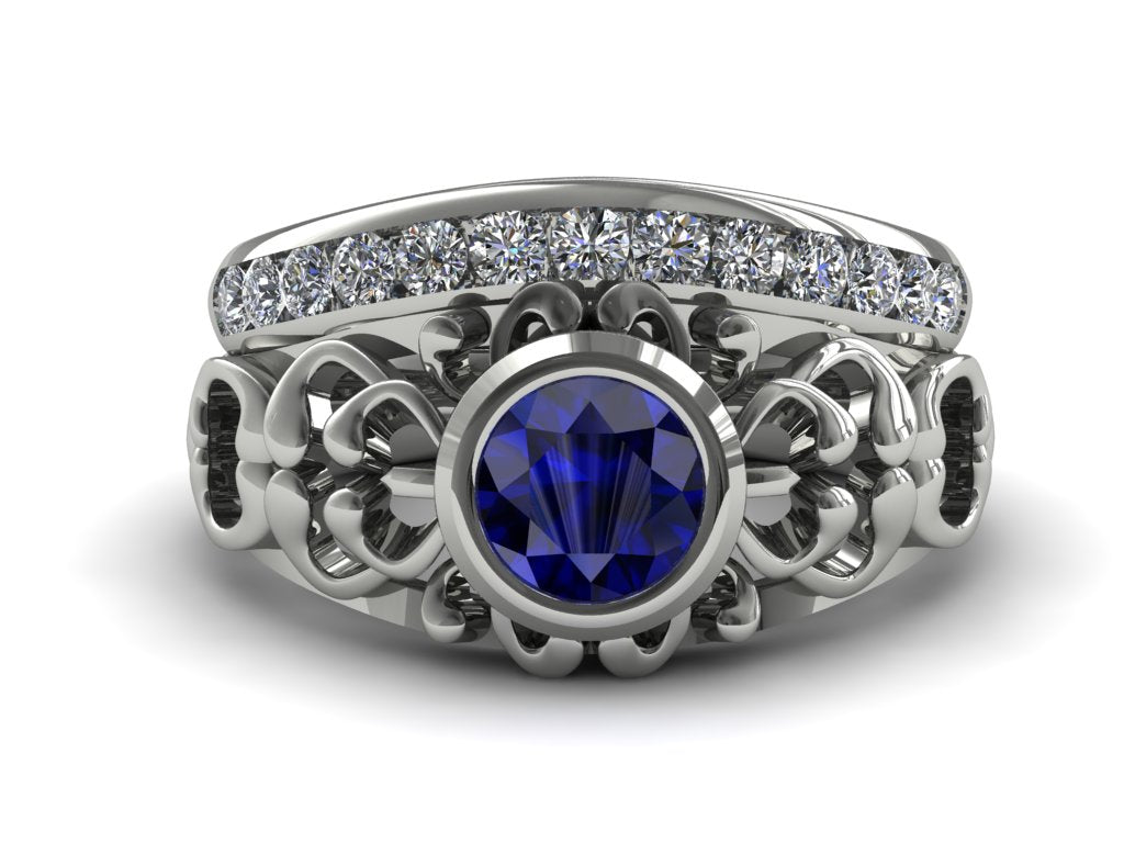 Amaris - The Ancient Ring Blue Sapphire Ring- Makayla no. 15