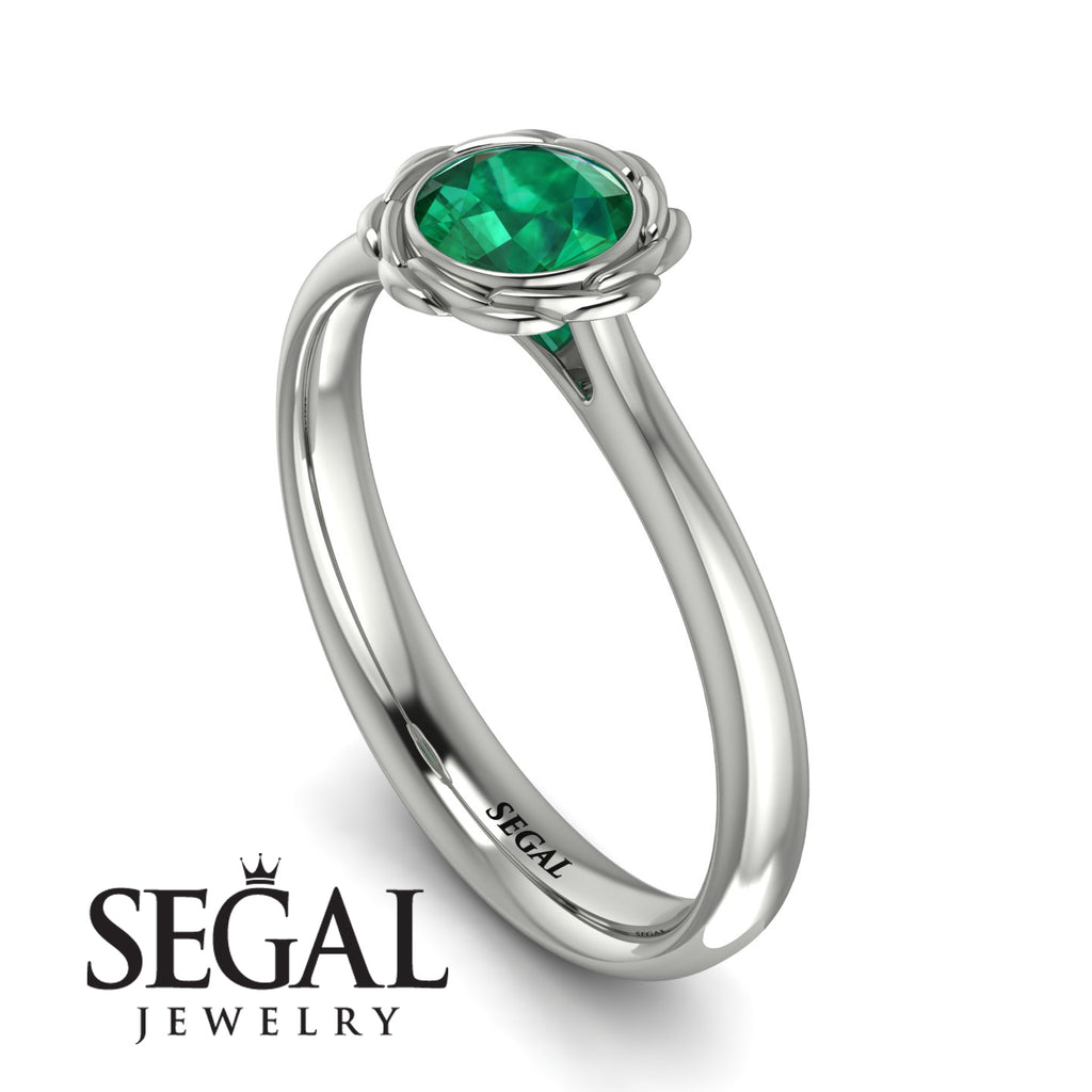 Solitaire Minimalist Emerald Ring - Eden No. 6