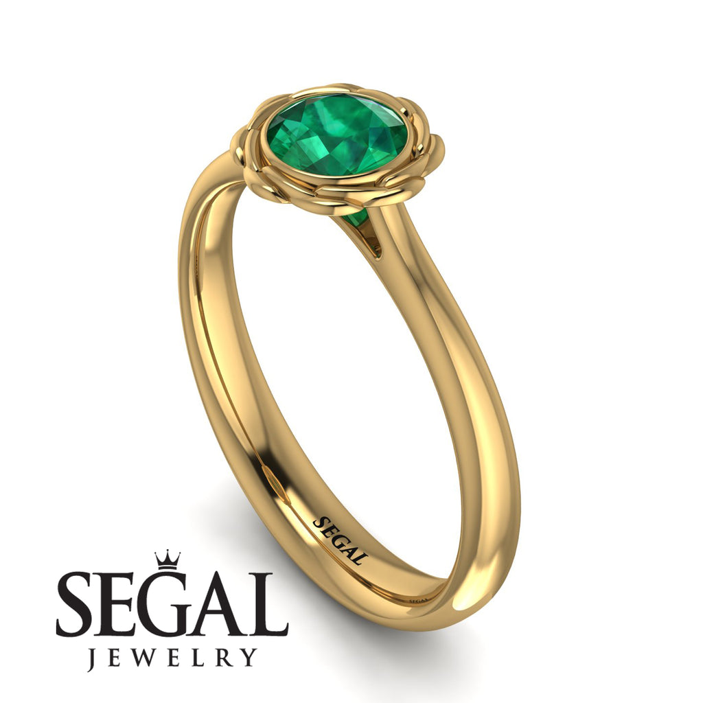 Solitaire Minimalist Emerald Ring - Eden No. 4