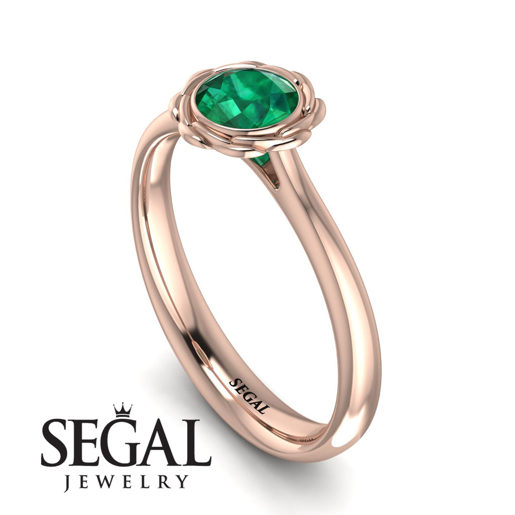 Solitaire Minimalist Emerald Ring - Eden No. 5