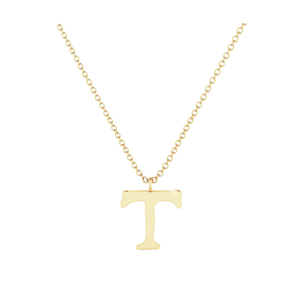 T - Letter Name Necklace Initial Necklace