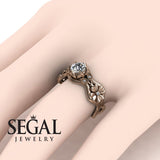 3 Stones Flower Cocktail Ring Diamond Ring- Kaylee no. 2