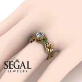 3 Stones Flower Cocktail Ring Diamond ring- Kaylee no. 13