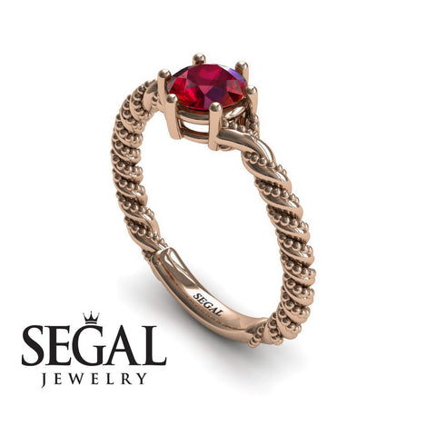 The Braid Ring Ruby Ring- Keira noº 8