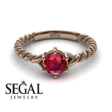 The Braid Ring Ruby Ring- Keira no. 8
