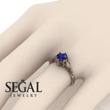 Leaf Solitaire Engagement Ring - Reagan no. 5