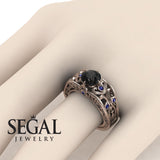 The Art Deco Choir Black Diamond Ring - Skyler no. 8