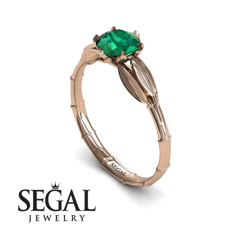 The Bamboo Dragonfly Green Emerald Ring- Lily noº 5
