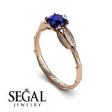 The Bamboo Dragonfly Blue Sapphire Ring- Lily no. 8