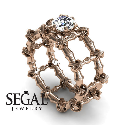 The Bamboo Power knot Diamond Ring- Sophia no. 2