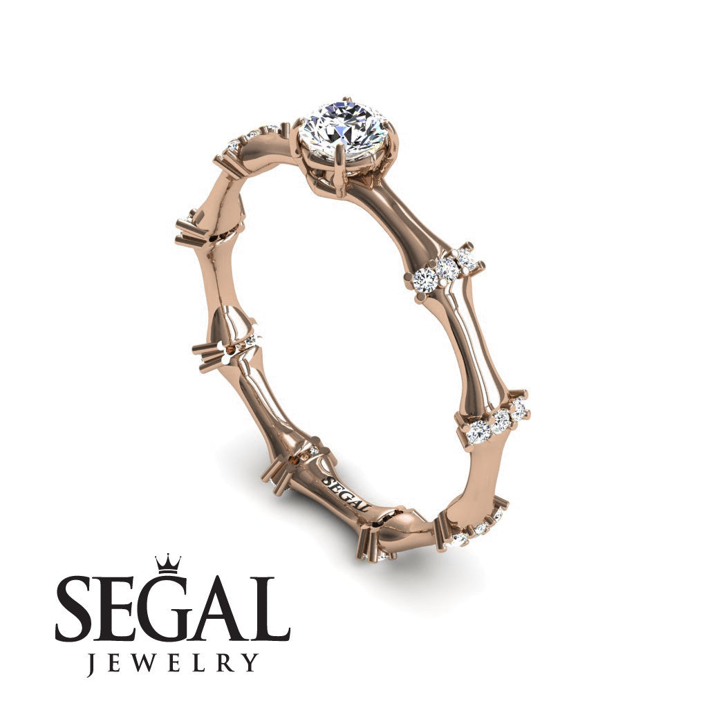 Fancy Bamboo Diamond Ring- Grace no. 2