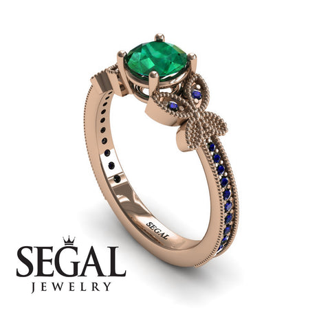 The Butterfly Stairs Green Emerald Ring- Amelia no. 8