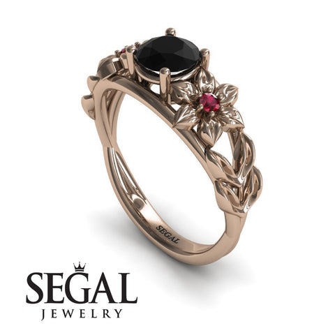 Floral Leaf Engagement Ring - Ella no. 11