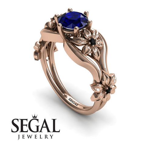 The 4th Season Flower Ring Blue Sapphire Ring- Lauren noº 14