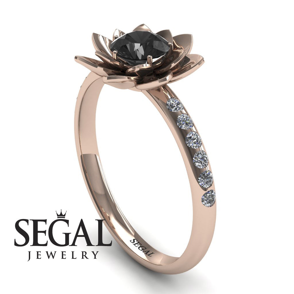 Flower Classic Engagement Ring - Lotus no. 5