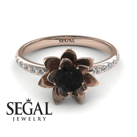 Flower Unique Engagement Ring - Lotus no. 5