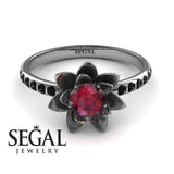 Flower Classic Engagement Ring - Lotus no. 9