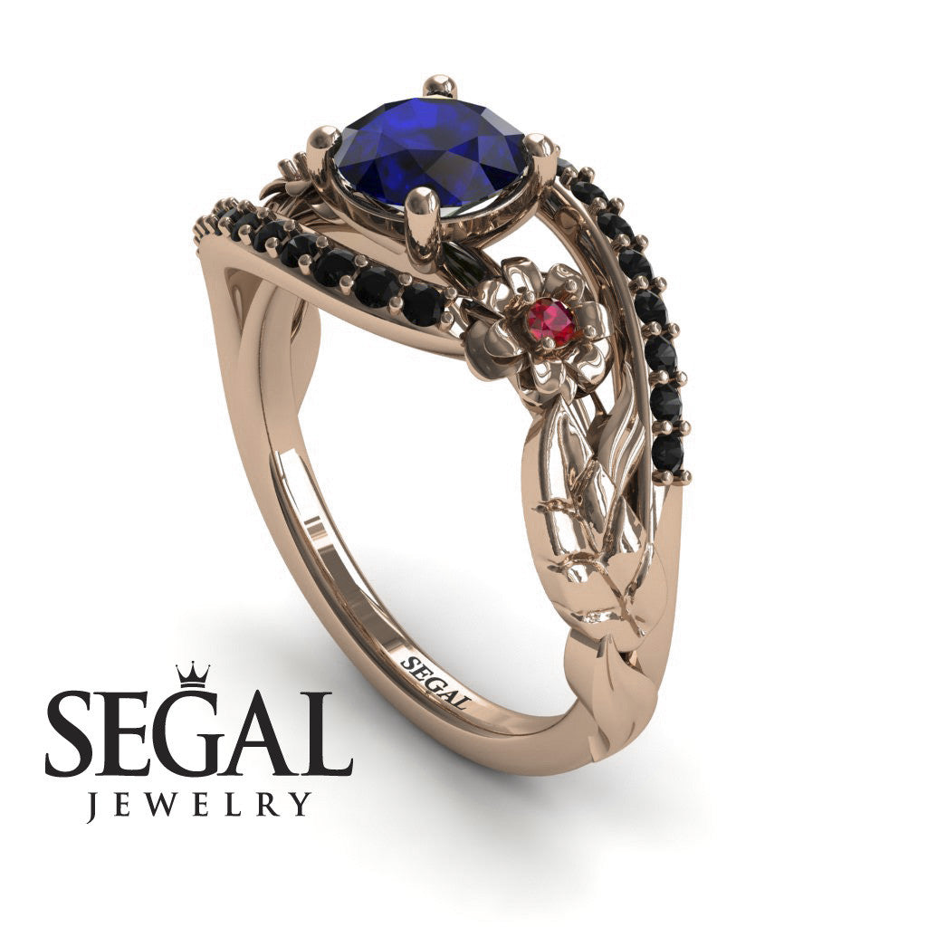 Branches In The Fall Blue Sapphire Ring- Alyssa no. 11