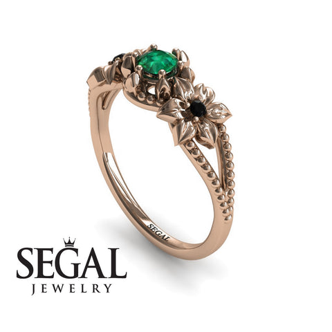 Nature Leaf Engagement Ring - Kennedy no. 8