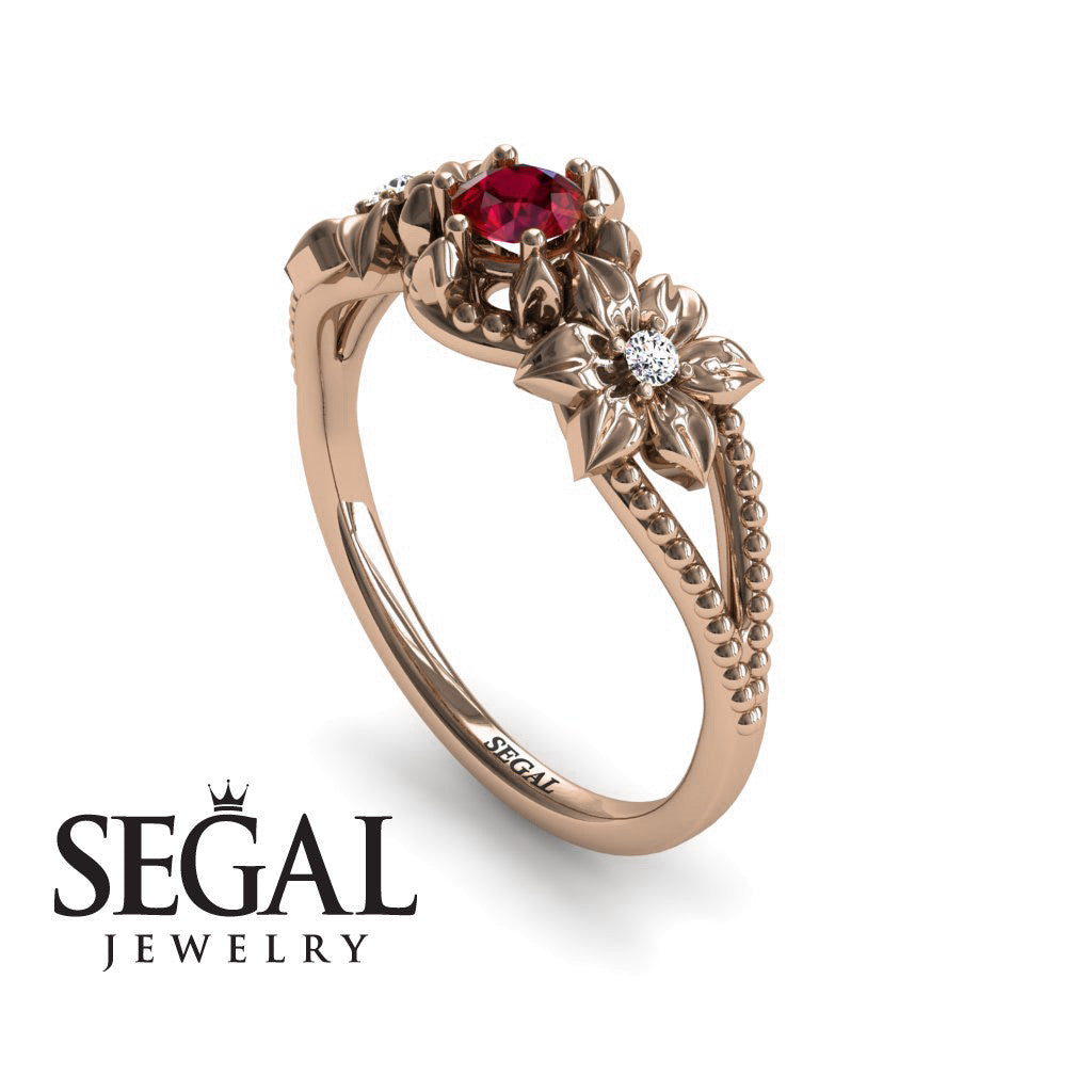The Flower cocktail ring Ruby Ring- Kennedy no. 5