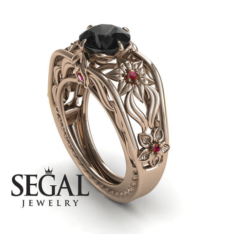 The Structure Of Nature Black Diamond Ring- Alexis no. 5