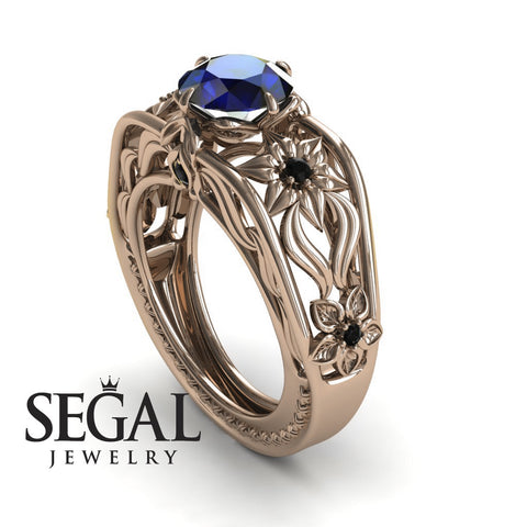 The Structure Of Nature Blue Sapphire Ring- Alexis no. 8