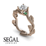 Leaf Branch Engagement Ring - Allison no. 20