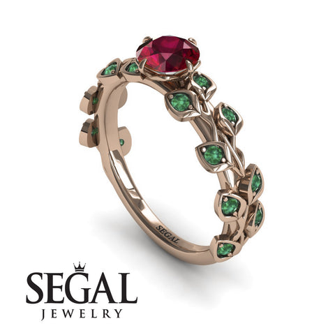 Leafs All Around Ruby Ring- Sydney no. 17