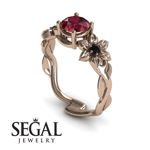 Floral Nature Inspired Engagement Ring - Julia no. 14