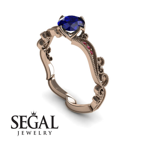 Painter's Muse Blue Sapphire Ring- Sophie no. 5