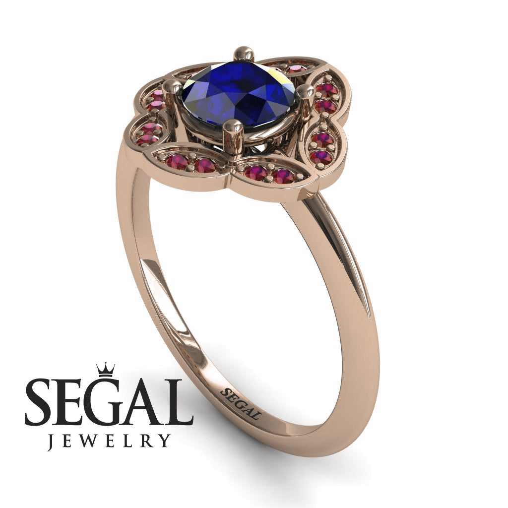 A Princess Ring Blue Sapphire Ring- Lucy no. 8