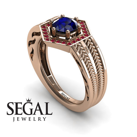 The Victorian Hexagon Blue Sapphire Ring- Peyton noº 5