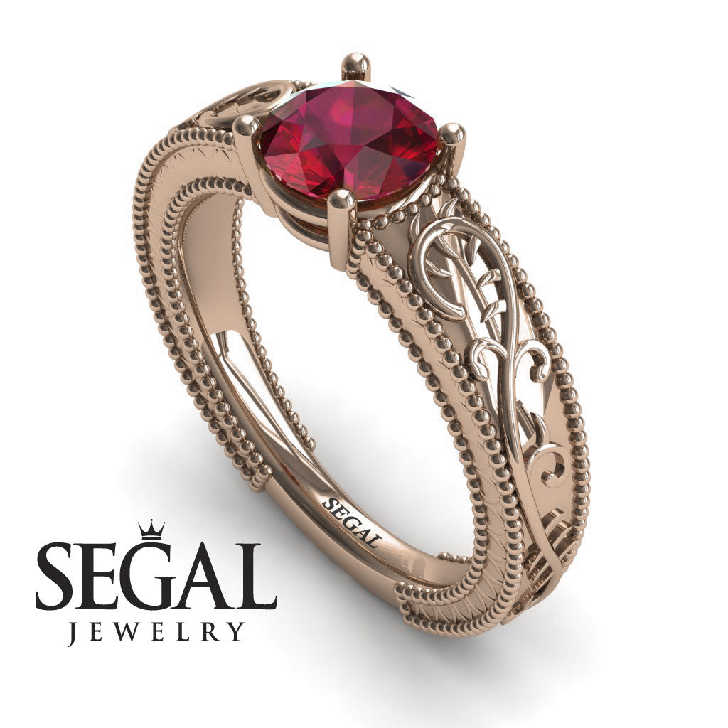 Vintage Melody Ruby Ring- London no. 5
