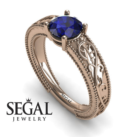 Vintage Melody Blue Sapphire Ring- London no. 8